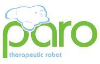 DBA of Intelligent Systems Co. Paro robot seal logo