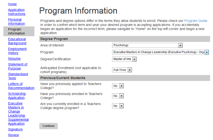 Columbia Acceptance Letter.Application Information Executive Masters Program In