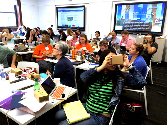 TEACHERS GETTING TECHNICAL TC hosted 30 educators for a three-day technology boot camp on the power of interactive media. (Photo: Joey Lee)