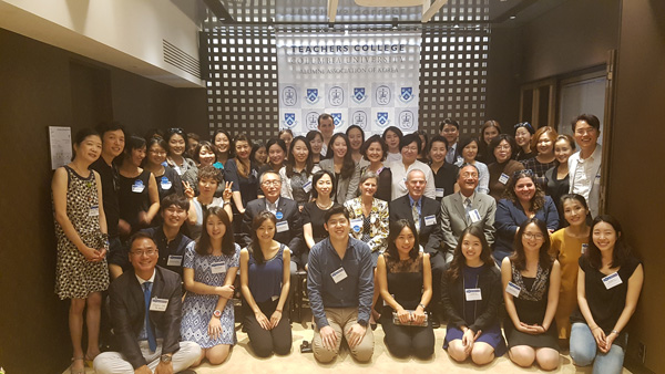 TC's Office of Alumni Relations along with TCAAK (TC's Alumni Association in Korea) came together this summer to help welcome Teachers College's newest students. We took a moment to capture the group in Seoul. The front row consists of all of our newly admitted students!