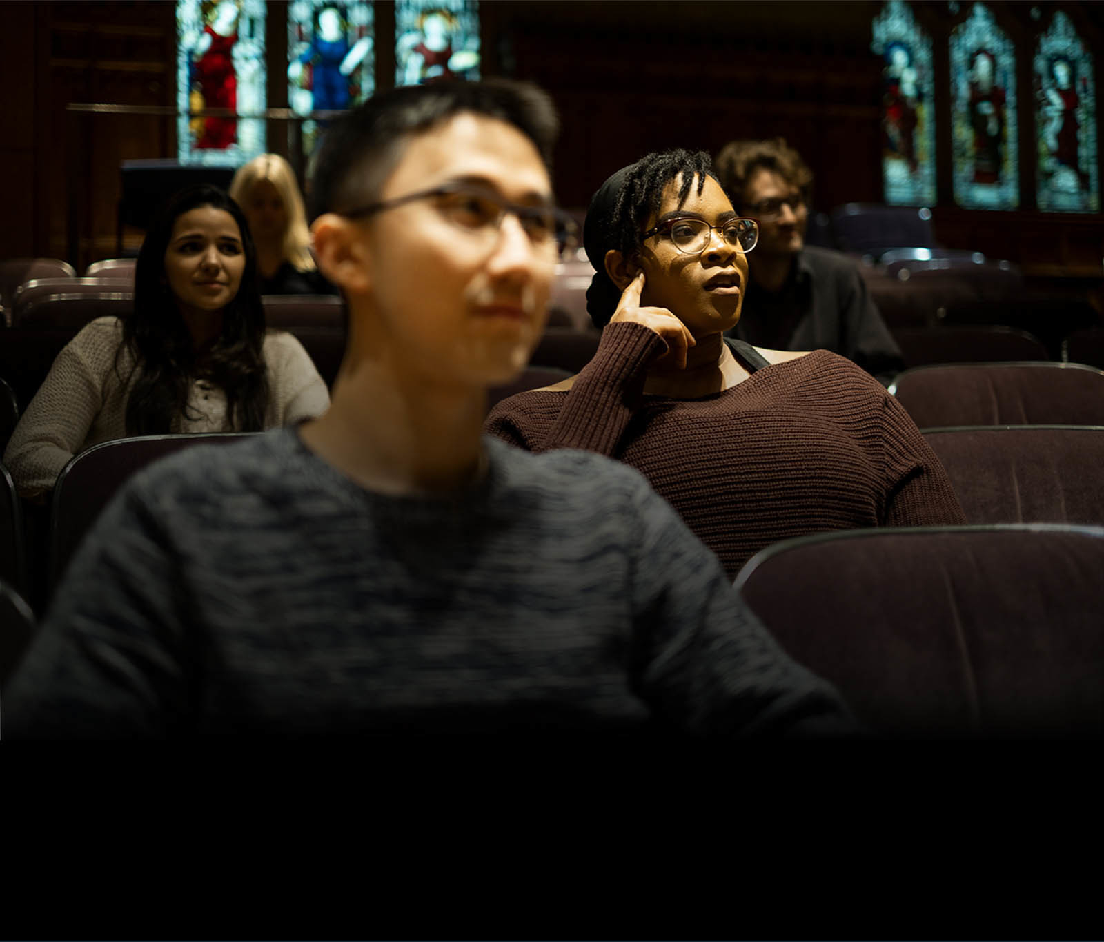 Students in Milbank Chapel