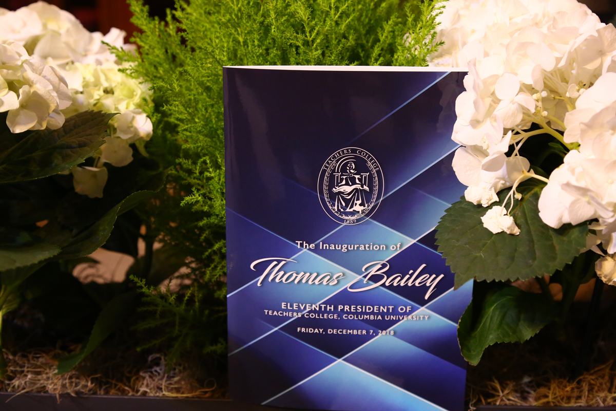 4e35298003 An image of the program for the Inauguration of Tom Bailey