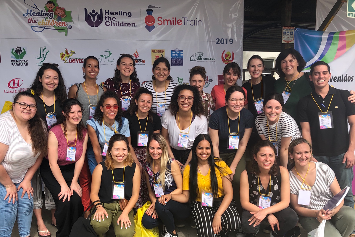 2019 TC CSD master's students at the Hospital Universitario in Neiva, Colombia preparing for surgery/therapy screening day and a 5-day intensive cleft palate speech therapy clinic.