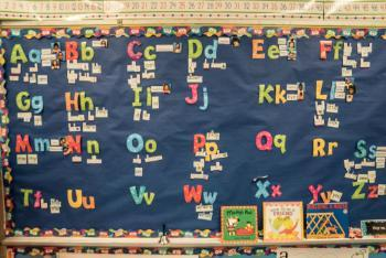 Bulletin Board in a classroom