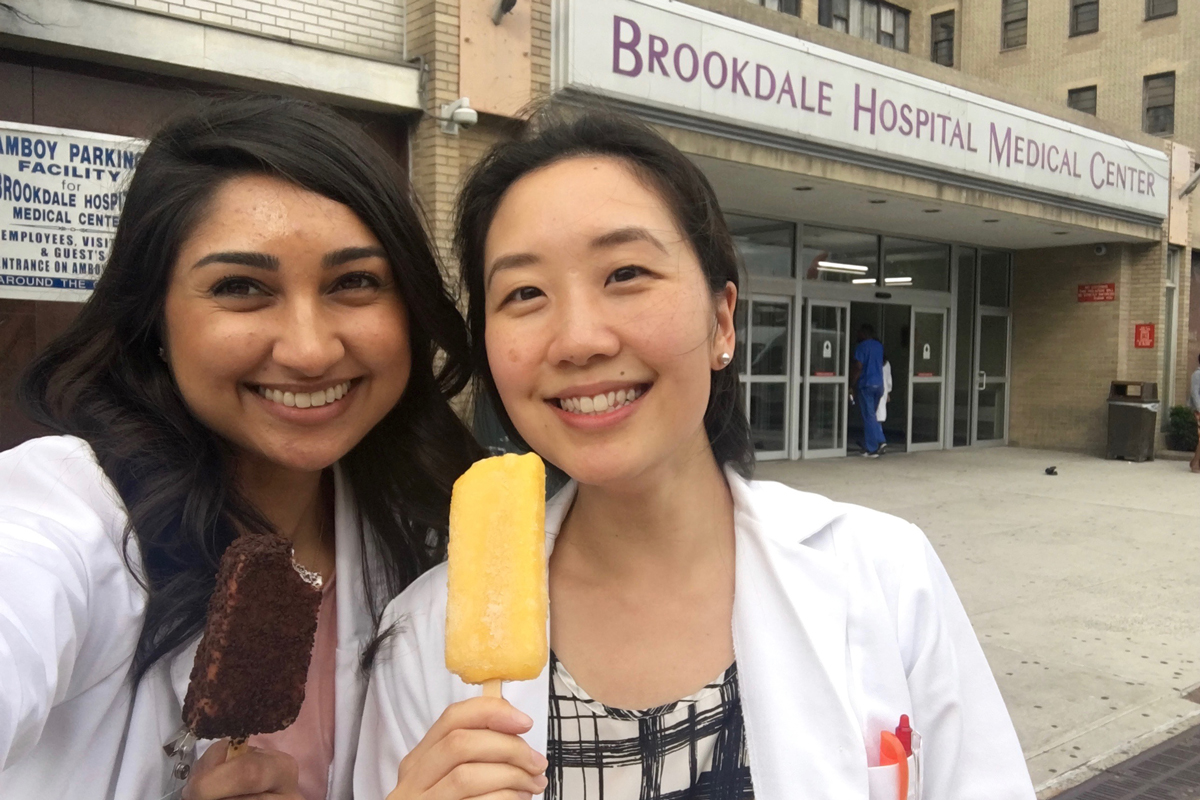 DI interns at Brookdale Hospital