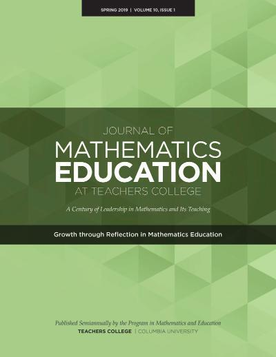 Image of the cover of the Journal of Mathematics at Teachers College