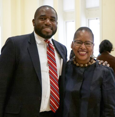 The Right Honourable David Lammy, a Member of Parliament in the U.K., with Kassie Freeman, President of the African Diaspora Consortium. Lammy spoke at TC in Spring 2016.