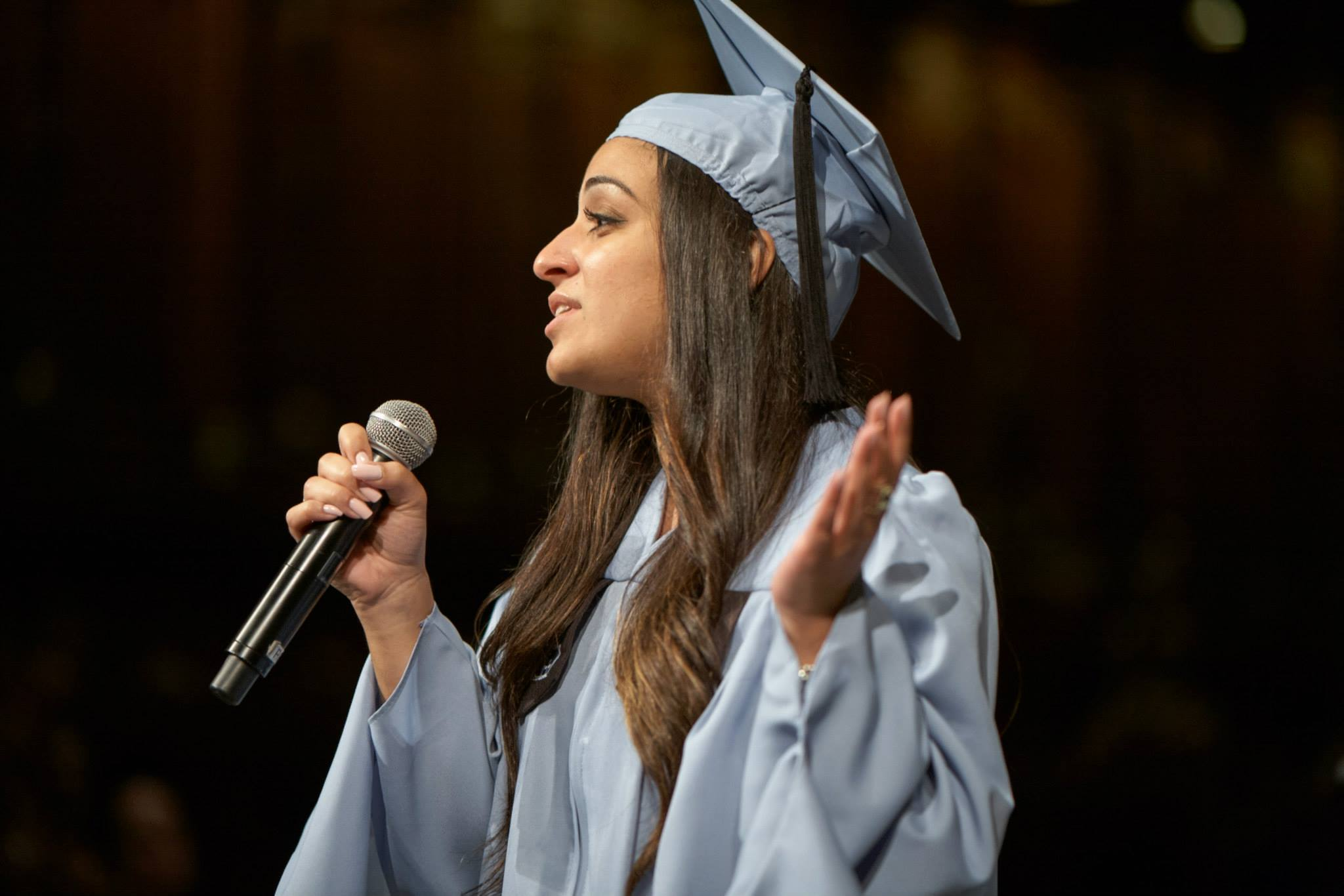 Francani performed twice during TC's 2015 Convocation ceremonies, regaling the audience with her own performance and also stepping in when another act canceled.