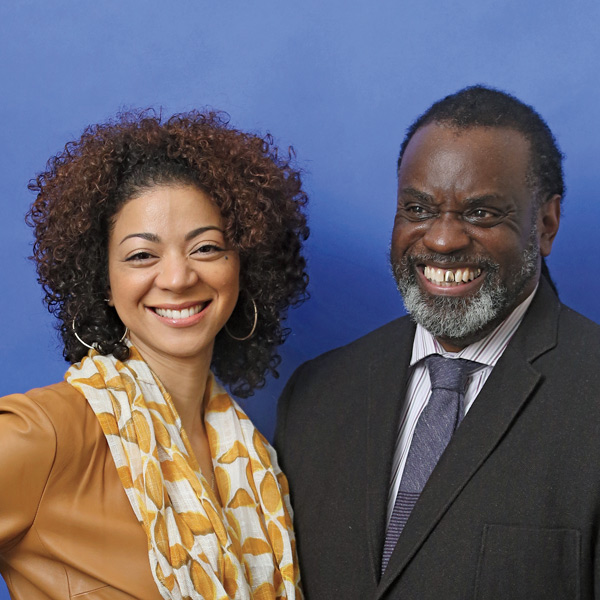 Doctoral Student Phillip Smith and Sonya Douglas Horsford, Associate Professor of Education Leadership