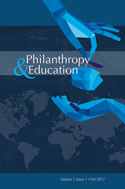 Cover of Philanthropy and Education Journal
