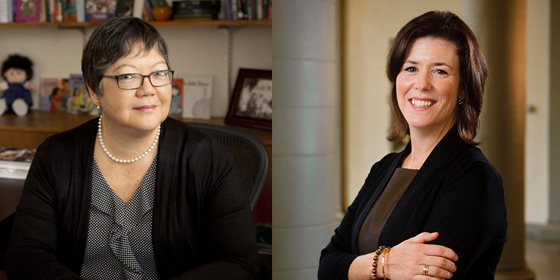 (L-R) A. Lin Goodwin, Evenden Professor of Education and Kelly A. Parkes, Associate Professor of Music & Music Education