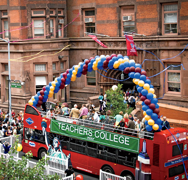 "Big Day on TC Way Balloons were in order as New York City proclaimed  September 3rd, 2013, as TC Day and co-named West 120th Street as ""Teachers College Way."""