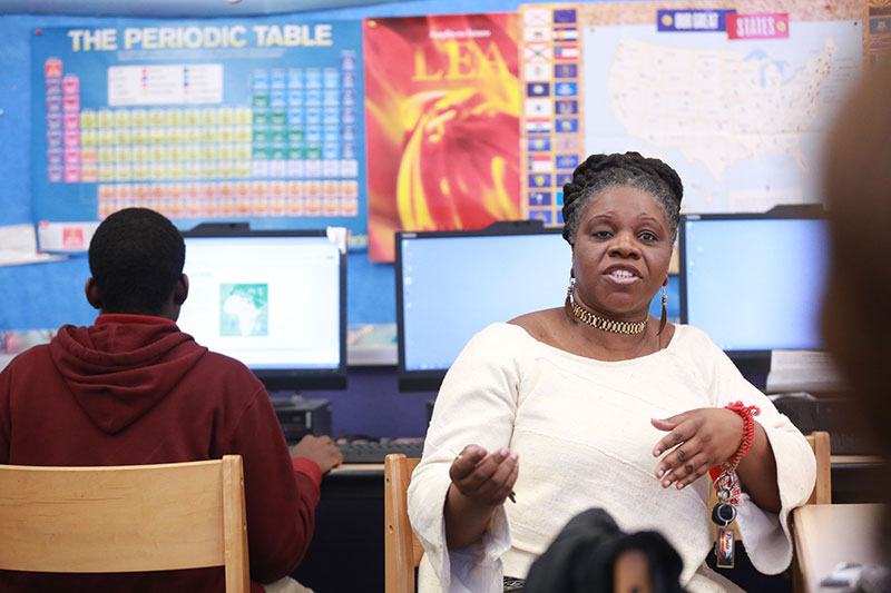 SEARCHING FOR HERITAGE At Medgar Evers in Brooklyn, where all the students are of African or Caribbean descent, Stuart says the focus is on applying knowledge from the course on a personal level.
