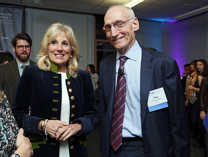 "HIGH PRAISE In 2016, then-Second Lady Jill Biden, herself a community college educator, credited Bailey with identifying ""the challenges community college students face and paths to overcoming them."""