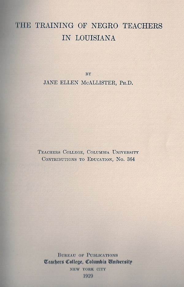 McAllister's TC thesis