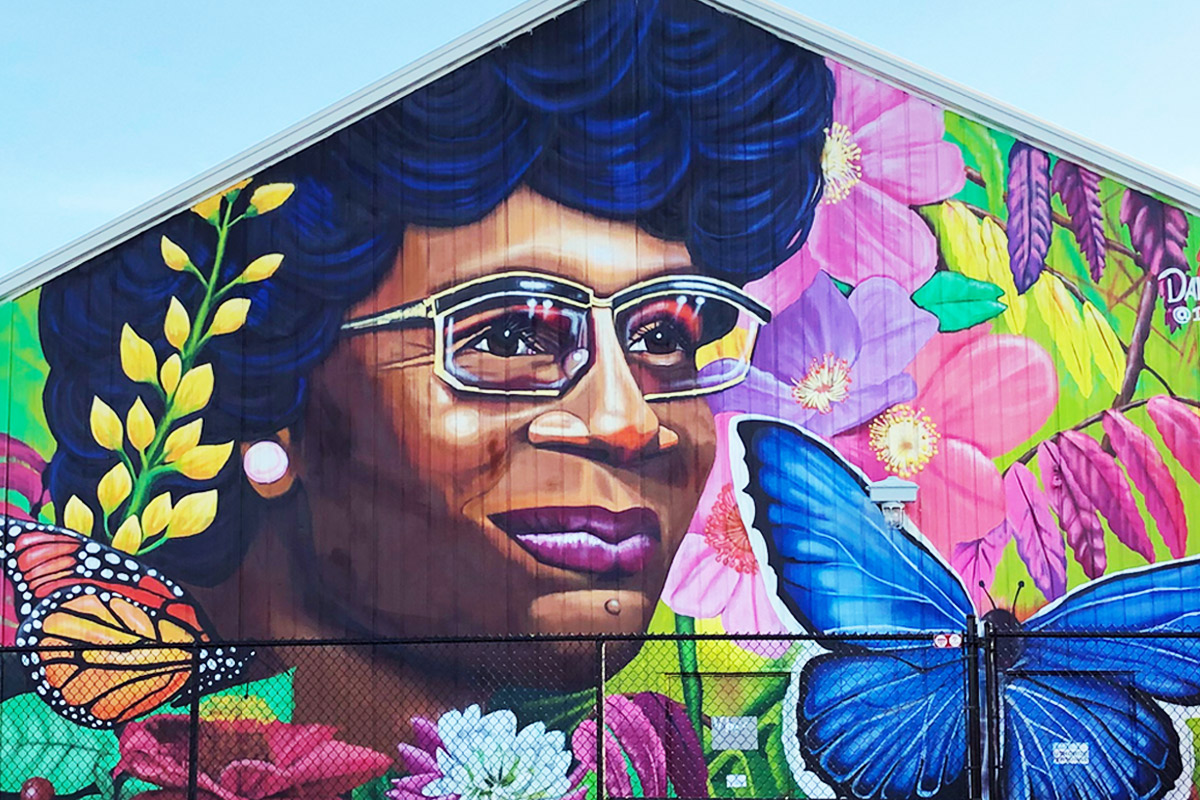 Mural at Shirley Chisholm State Park