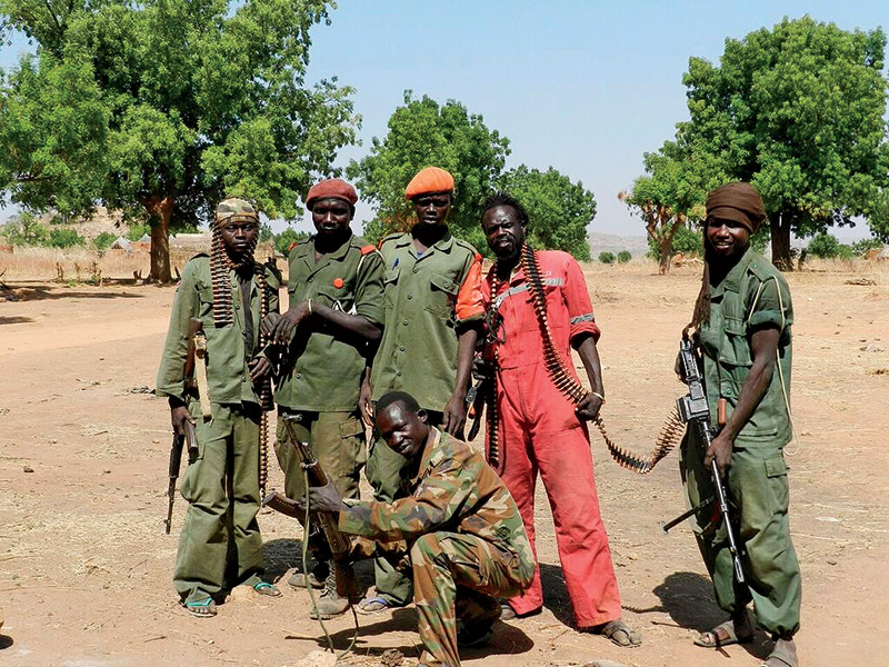 Rebel fighters in Nuba
