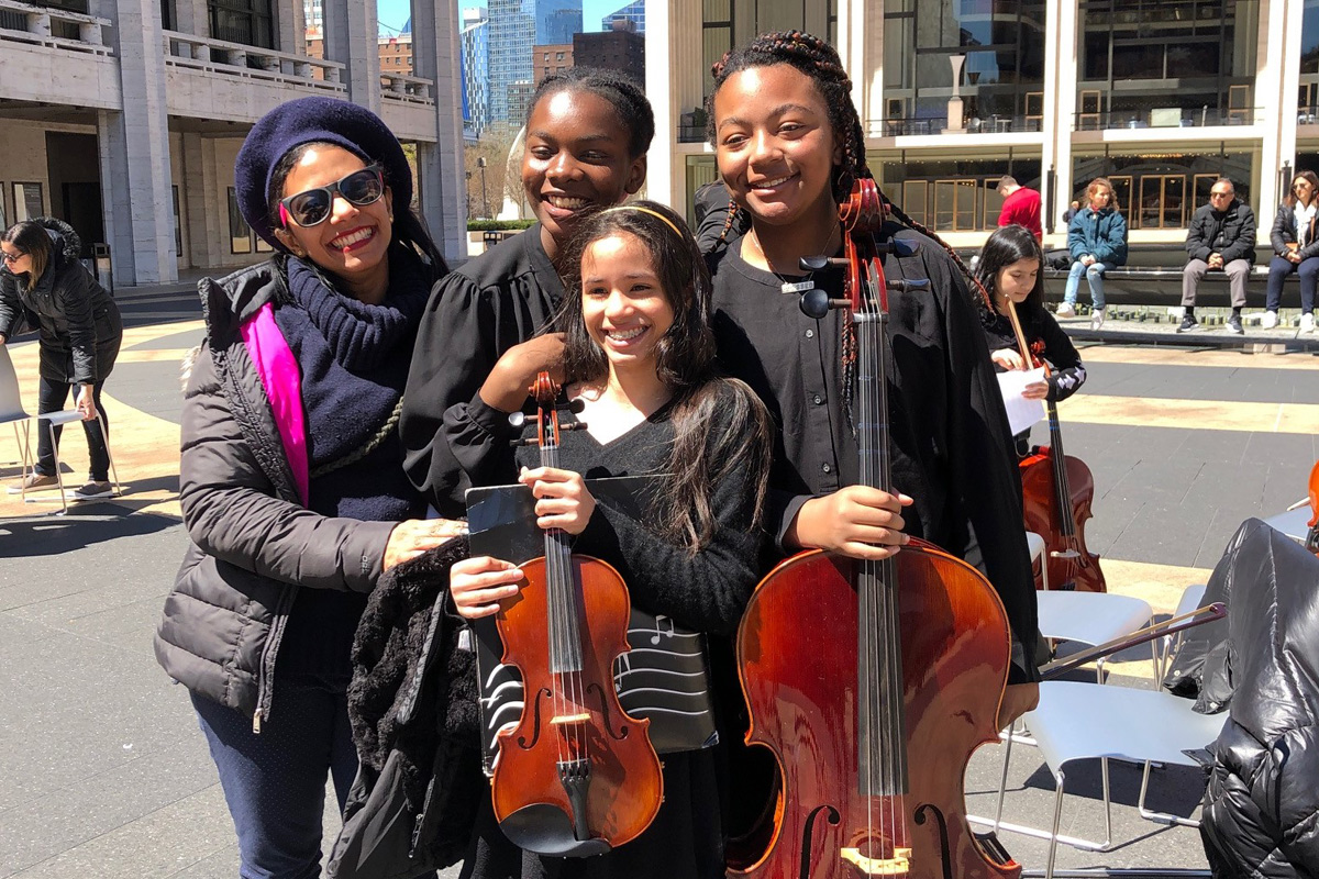 TCCS students at Lincoln Center