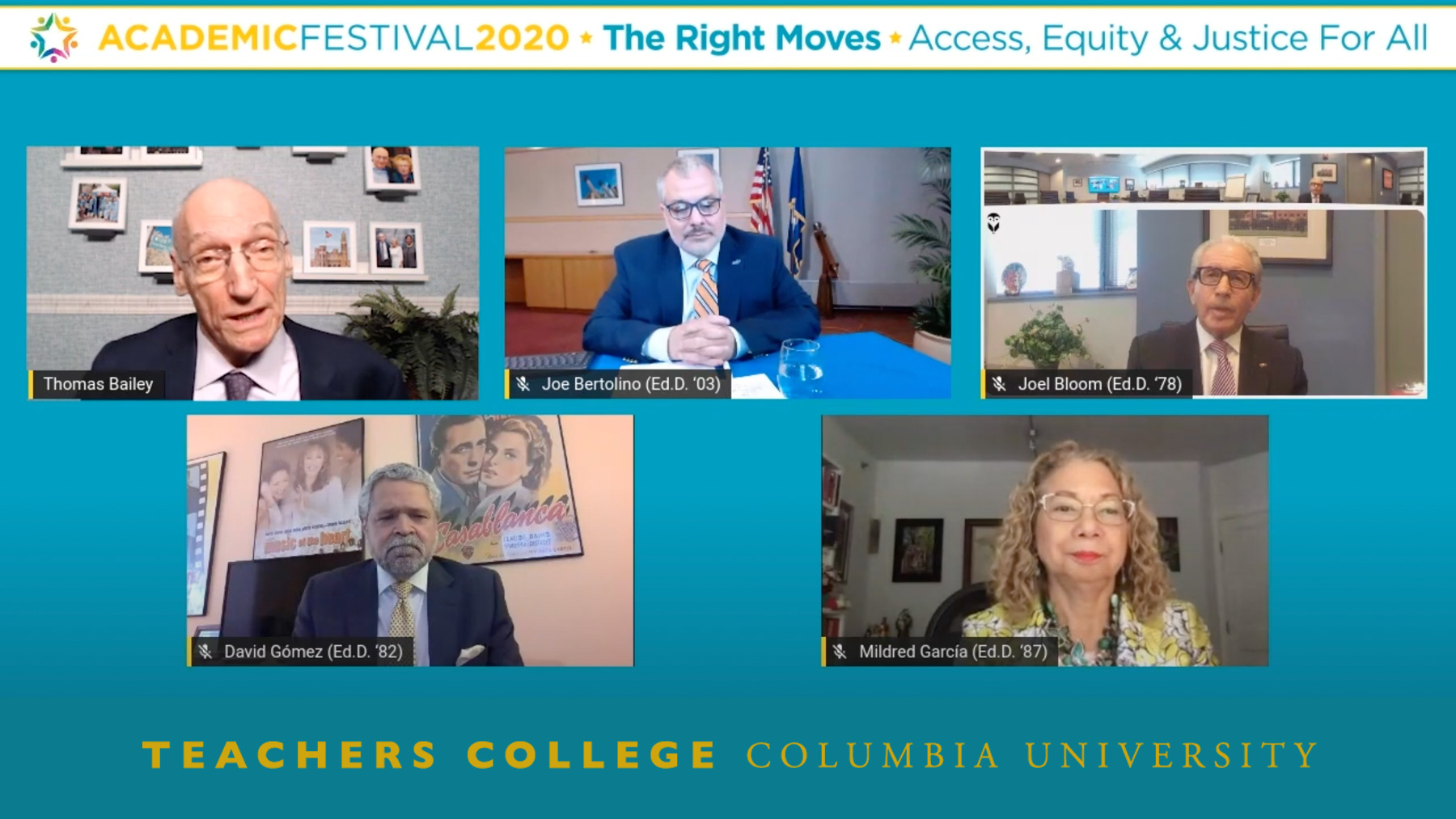 Academic Festival 2020 Higher Education Panel