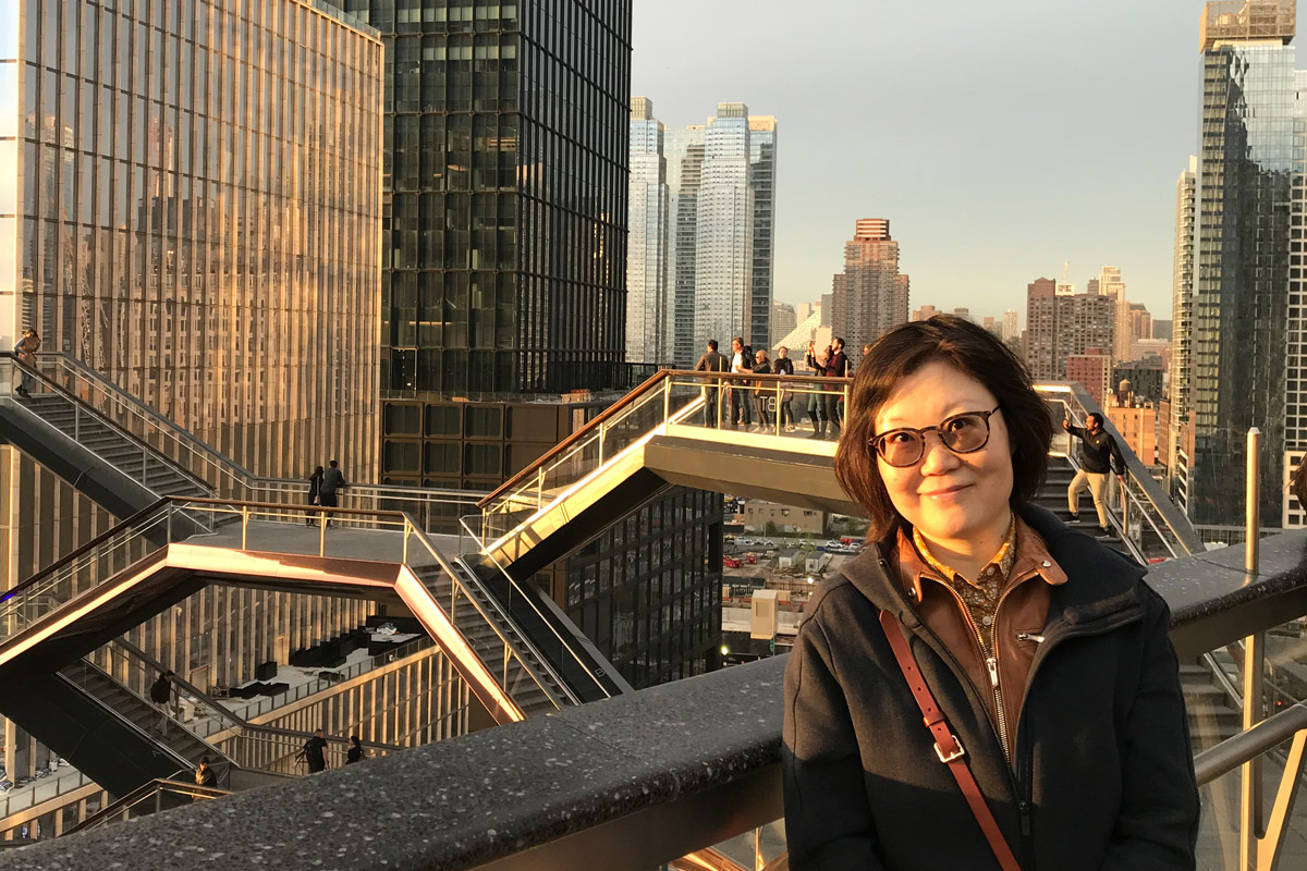 Angel Wang at the Vessel in Hudson Yards