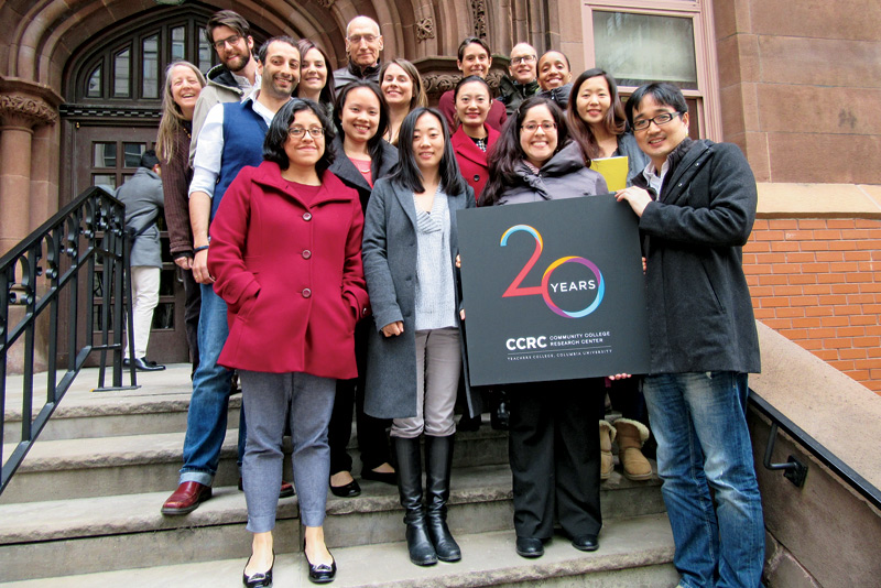 CCRC out on steps for 20th anniversary
